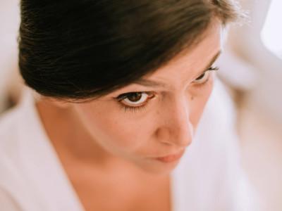 detalle ojos de la novia