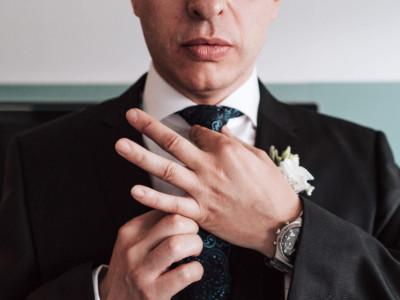 detalle corbata novio